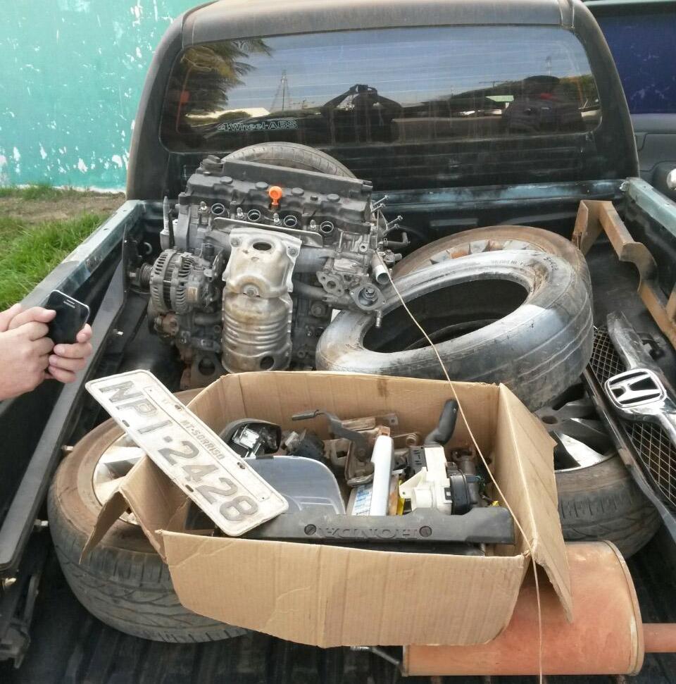 Peças e carro roubado localizados em Ipiranga do Norte (ass)