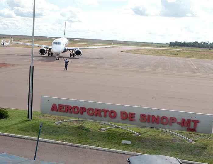 Aeroporto de Sinop tem queda de 10% no número de passageiros e segue sendo 2º maior do Estado