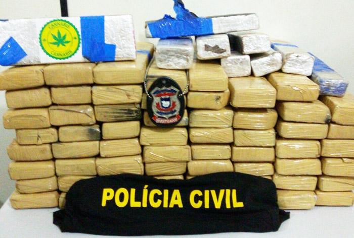 80 quilos de maconha apreendidos em Cuiabá (ass)