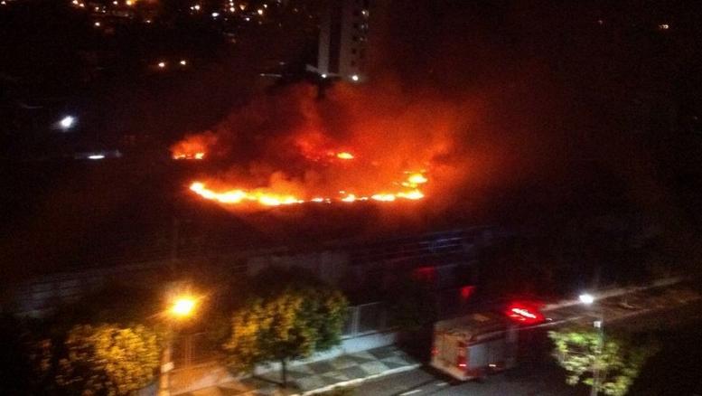 Incêndio na superintendência do Banco do Brasil em Cuiabá abril 2016 (rep)