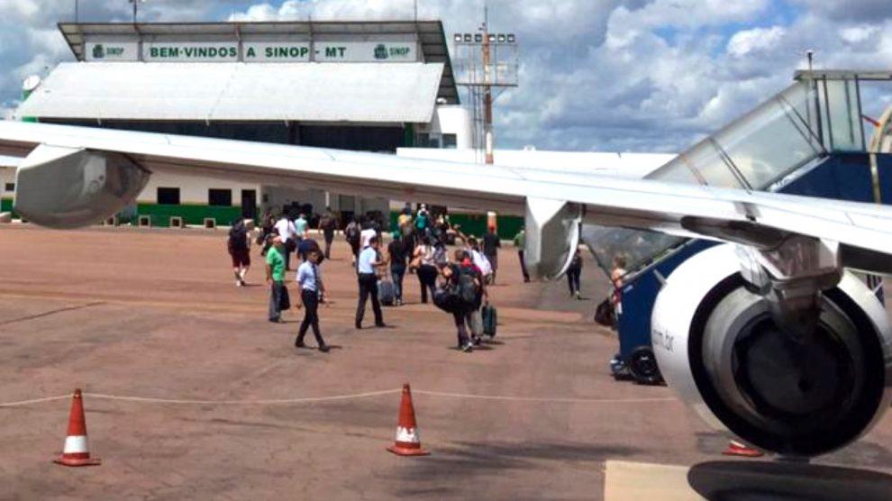 Diminui 8% volume de passageiros nos 3 primeiros meses no aeroporto de Sinop