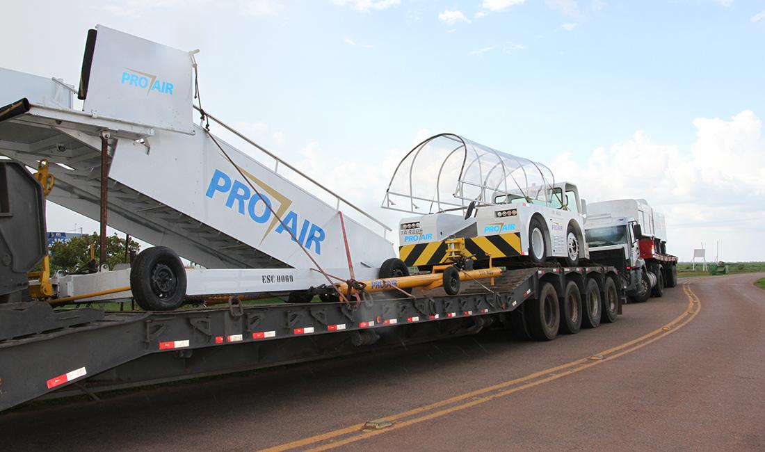 Chegam a Sinop equipamentos para GOL começar voos com Boeing a São Paulo