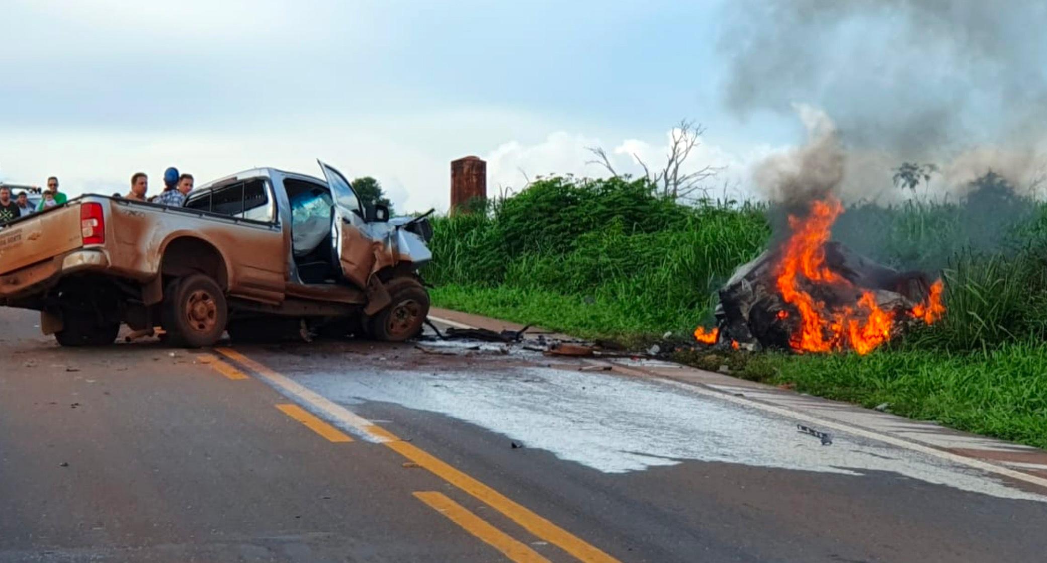 Morre no hospital em Sinop 2ª vítima de acidente na BR-163 no Nortão; carro pegou fogo - Só Notícias