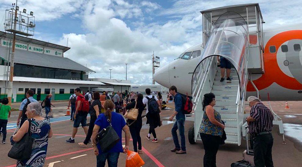 Sinop tem recorde de passageiros no aeroporto; mais de 20 mil no mês passado